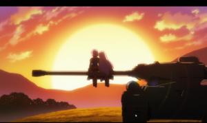 「アンジュ・ヴィエルジュ」第07話より 戦車の訓練がいつの間にかデートドライブに もうダメだ、この姉妹(笑)