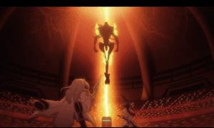 「クオリディア・コード|QUALIDEA CODE」第11話より すっごい強そうなアンノウン登場 連携力も含めて人類最強の二人ですが・・・