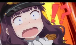 「NEW GAME!」第11話より 青葉ちゃん達を見つけて動揺するひふみ先輩 百合フィルターのせいかも知れませんが、意識が青葉ちゃんに向かっているとしか思えません(笑)