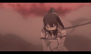 「クオリディア・コード|QUALIDEA CODE」第12話より 舞姫を庇い負傷するも奮闘するほたるちゃん 百合的に燃え萌えするシーンです!