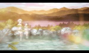 「レガリア The Three Sacred Stars」第06話より 水着と温泉はある意味、美少女アニメのお約束ですが一気に来ましたね(笑)