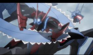 「レガリア The Three Sacred Stars」第07話より ユイ達も健闘しますが、飛べる相手にはやはり苦戦気味