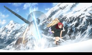 「終末のイゼッタ」第2話より 戦闘機すら沈めるイゼッタの力 ですが血を媒介にしたりと、それなりの制限が有る模様