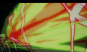 「レガリア The Three Sacred Stars」第08話より 撃ち落とした所をマウントポジションでボコボコ~竜巻でかち上げ~「ジャッシメントアロー!」で〆 スパ○ボで合体技に採用されそうなくらい華麗かつ一方的な攻撃でした(笑)