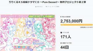 「りりくるRS続編ドラマCD ~Pure Dessert~ 制作プロジェクト第2弾」公式ページ-トップ_2日目